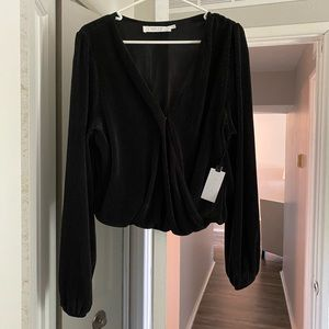 ASTR The Label Crop Blouse NWT